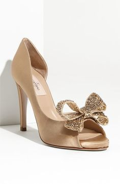 Valentino Jewelery Couture Bow d'Orsay Pump, HT