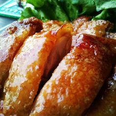 これはほんとにパリッパリ~♪皮パリ照り焼きチキン♪ | しゃなママオフィシャルブログ「しゃなママとだんご3兄弟の甘いもの日記」Powered by Ameba Sushi Recipes, Asian Recipes, Diet Recipes, Chicken Recipes, Dessert Recipes, Ethnic Recipes, Home Food, Beauty Recipe, Sausage