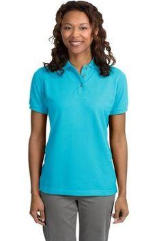 Port Authority Ladies Pique Sport Shirt (L420) Available in 24 Colors Medium Turquoise Port Authority. $21.33