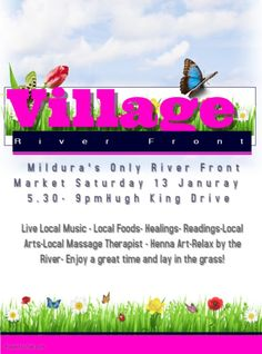 January, PM AM - Black Market Events - Mildura - Australia - Village Summer Nights Welcomes you to the banks of the Might Murray River! Village is Mildura's only River Front market . Local Massage, Local Music, Event Marketing, Summer Nights, Places To Visit, River, Reading, Reading Books, Rivers