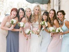 mix-match-bridesmaids-dresses-destination-wedding