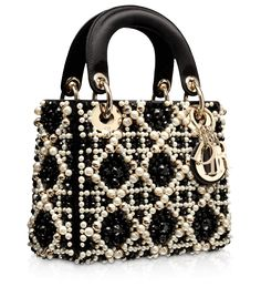 Dior handbag in black and white