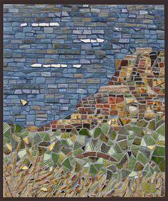 Landscape -- pique assiette by DayBreak Mosaics, via Flickr