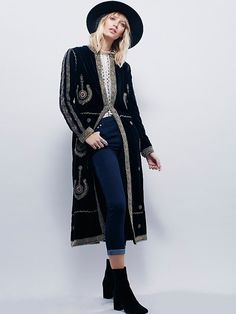 Free People Eternal Tapestry Velvet Maxi Jacket at Free People Clothing Boutique