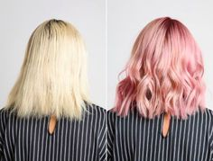 Take a look at this flawless transition from bland blond to brilliant pink.   19 Hair Color Transformations That'll Have You Calling Your Hair Salon