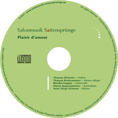 The second CD of the Salonmusik-Saitenspruenge, called Plaisir d'amour!