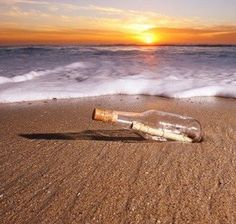 Message In A Bottle Proposal: A romantic walk on the beach becomes a life altering experience when you find a tiny bottle with a message in it addressed to YOU! Guys- Click the picture to explore beaches of the world*