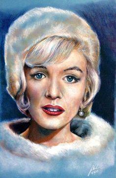 Marilyn by jimwinburnfineart - / This image first pinned to Marilyn Monroe art board here: https://www.pinterest.com/fairbanksgrafix/marilyn-monroe-art/ #Art #MarilynMonroe