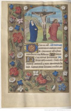 page 38v Medieval Manuscript, Illuminated Manuscript, Illumination Art, Book Of Hours, Book Binding, Middle Ages, Renaissance, Religion, Menu