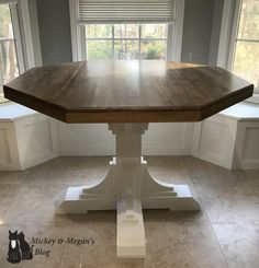 diy octagon round breakfast table mickey and megans blog kitchen breakfast - Octagon Kitchen Table