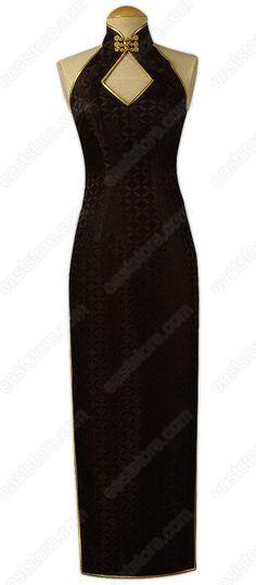 Mystery Ankle Length Silk Cheongsam : EastStore.com