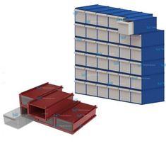 Gavetero plastico cerrado - modulaser