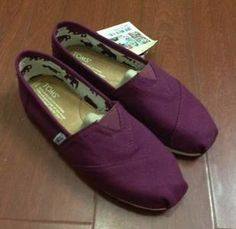 Solid eggplant purple toms canvas shoes from fashionpenny