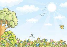 Fundo de natureza - ilustração de arte vetorial