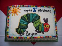The Very Hungry Caterpillar Sheet Cake