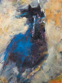 Blue Horse Gallop by Susan Easton Burns | dk Gallery | Marietta, GA