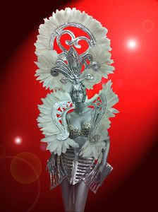 drag queen costume | Showgirl Drag Queen Cabaret Dance Costume Feather Shoulder and ...