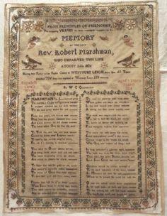 Early 19th Century Silk Work Memorial Sampler by Elizabeth Lane Aged 9 1818 | eBay