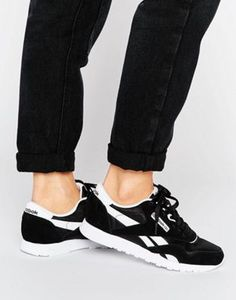 b2d5c9f2e91f2 Reebok Classic nylon sneakers in black and white