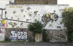 jim vision &  massai by Claudelondon save the bees art under the hood '14