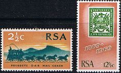 South Africa 1969 First Republican Stamps Set Fine Mint                    SG 297 8 Scott 357 8          Condition Fine MNH    Only one post charge