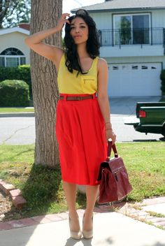 love the color blocking here.