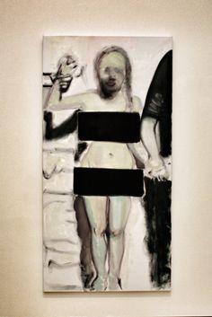 Dit is een schilderij van Marlene Dumas. Ik vind dit schilderij anders omdat iemand naakt staat. Maar toch zijn de delen zoals de kruis en de borsten bedekt. Je zal je dan afvragen waarom zij die gene naakt schildert als ze toch die delen bedekt. En dat maakt dit kunstwerk anders.