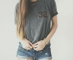 Clothes • denim shorts • teen fashion • teen outfit • cute outfit • tomboy outfit • tumbler girl •