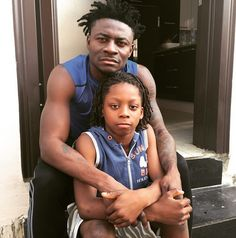 Obagoal shows off his first son, Kelvin
