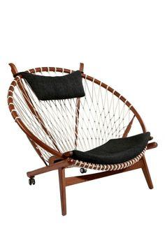 woven basket chair - outdoor deck furniture - mid-century modern