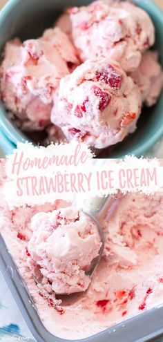 easy homemade ice cream This Homemade Strawberry Ice Cream Recipe is made with fresh strawberries! This is such an easy strawberry ice cream, because it's made in an ice cream maker. We love this homemade ice cream all summer long! Easy Summer Desserts, Summer Dessert Recipes, Frozen Desserts, Easter Desserts, Frozen Treats, Easter Food, Summer Treats, Dessert Ideas, Dinner Recipes