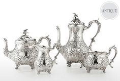 1880 tea and coffee set, ONLY $2199.00!  yikes. a little out of my price range but they are pretty!
