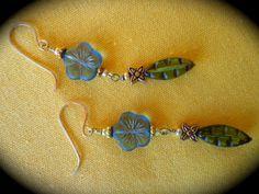 Blue Moon Sweet Enchanting handmade Dangle Earrings by qisma
