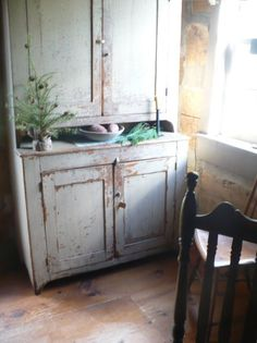 wood cabinet primitive country