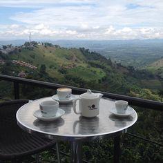 La terraza San Alberto, en Buena Vista (Quindío): un café en medio de un cafetal. Aquí se cultiva y se prepara uno de los mejores cafés del mundo. Un lugar único e inspirador. Foto gracias a http://instagram.com/joseamojica
