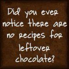 Leftover chocolate? What's that?