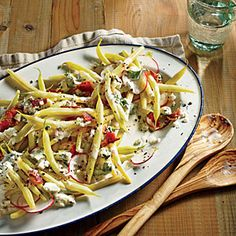 Wax Bean and Radish Salad with Creamy Parsley Dressing | MyRecipes.com #myplate #vegetables