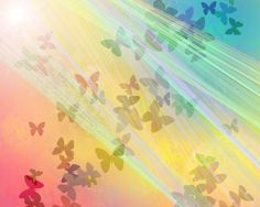 colorful angel butterfly