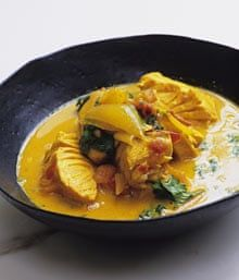 Mild salmon curry by Nigel Slater Salmon Recipes, Fish Recipes, Seafood Recipes, Indian Food Recipes, Appetizer Recipes, Cooking Recipes, Healthy Recipes, Ethnic Recipes, Salmon Food