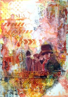 skorpionens rede: Be wild - art journal DT Mixed Media Place