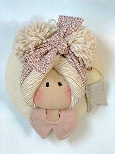 Medaglione fascia grande – Country Creations Pretty Dolls, Fairy Dolls, Doll Crafts, Bottle Art, Projects To Try, Teddy Bear, Clip Art, Baby Shower, Toys