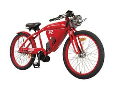 The Phantom R is a hand-built vintage style electric bike. This powerful bicycle was designed with the vintage board racers of the in mind and comes equipped with a large front vented fairing, mid drive motor, battery, thumb throttle, and more. Bmx, Electric Bicycle, Electric Cars, Velo Retro, Retro Bicycle, E Mobility, Motorised Bike, Push Bikes, Motorized Bicycle