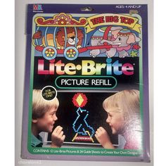 "Lite Brite Refill Pack VTG 1988 ""The Big Top"", Partially Used, Plus 20 Blanks #MiltonBradley"
