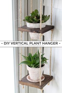 Best Country Decor Ideas for Your Porch - DIY Vertical Plant Hanger - Rustic Farmhouse Decor Tutorials and Easy Vintage Shabby Chic Home Decor for Kitchen, Living Room and Bathroom - Creative Country Crafts, Furniture, Patio Decor and Rustic Wall Art and Shabby Chic Kitchen, Shabby Chic Homes, Country Crafts, Country Decor, Country Style, Rustic Style, Rustic Modern, Country Living, Modern Decor
