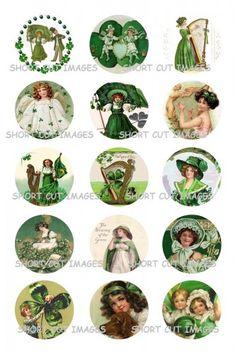Vintage St Patricks Day Bottle Cap Images