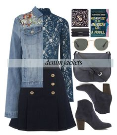 """Denim Trend: Jean Jackets"" by alaria ❤ liked on Polyvore featuring Dune, Jigsaw, Ray-Ban, MAC Cosmetics, Black and jeanjackets"