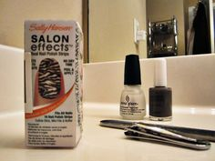 I love this budget solution to fashion nails... easy, cheap, and lasts for 2 weeks!
