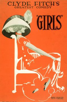 """Theatrical Poster for """"Girls,"""" 1910"""