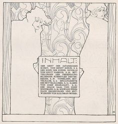 Ver Sacrum illustration (page by Koloman Moser, ~via Koloman Moser, FB Art Nouveau, Koloman Moser, Jugendstil Design, Art Deco Paintings, Aubrey Beardsley, Vienna Secession, Graphic Art, Graphic Design, Charles Rennie Mackintosh