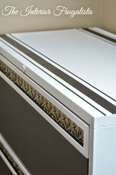Lateral Metal File Cabinet Makeover
